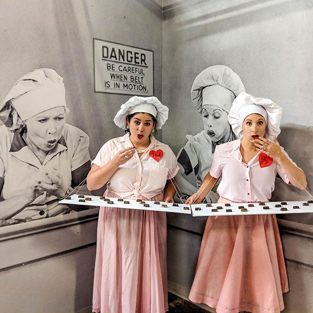 We've been having TOO much fun at the factory this week! This iconic Lucy & Ethel Halloween costume definitely stole the show ✨ Stop by to see all of our new holiday product or get a sneak peak by checking out @seattlechoc & @jcocochocolate 👀 #ExperienceChocolate ⠀