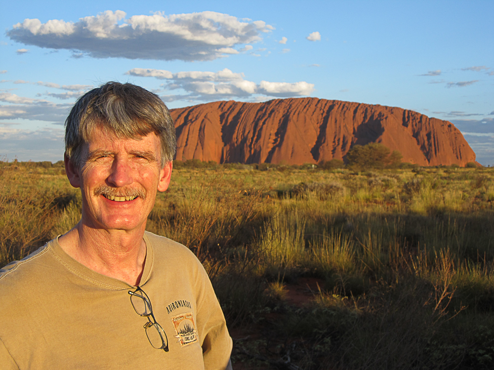 Ed at Uluru National Park in Australia's Northern Territory