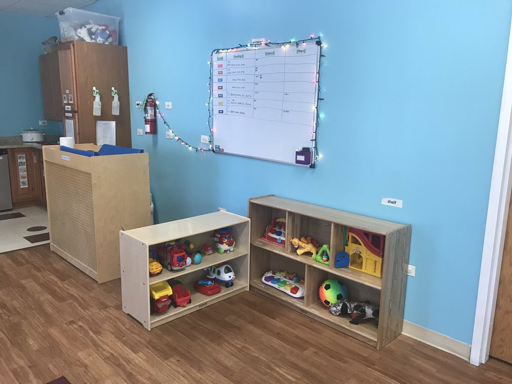 Curriculum - We focus on the developmental needs of the child —emphasizing the integration of cognitive, physical, and social/emotional development through:Singing, Reading, Sight and Touch Sensory Development, Arts & Crafts, Language Development, Hand-eye Coordination, Exercise, Nap Time and Play Time.