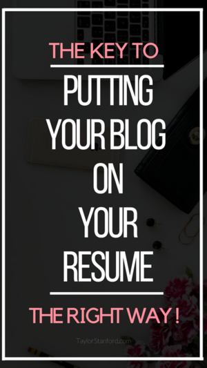 how to put blogging on your resume taylor stanford