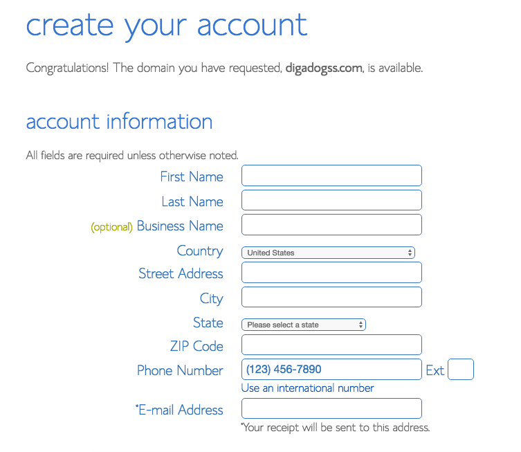 Bluehost create your account.png