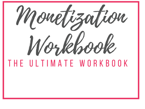 Monetization Workbook - This monetization workbook will help you find ways to monetzie your website, and keep all of your blog information organized so you don't get lost in the overwhelm.Sells Separately for: $50