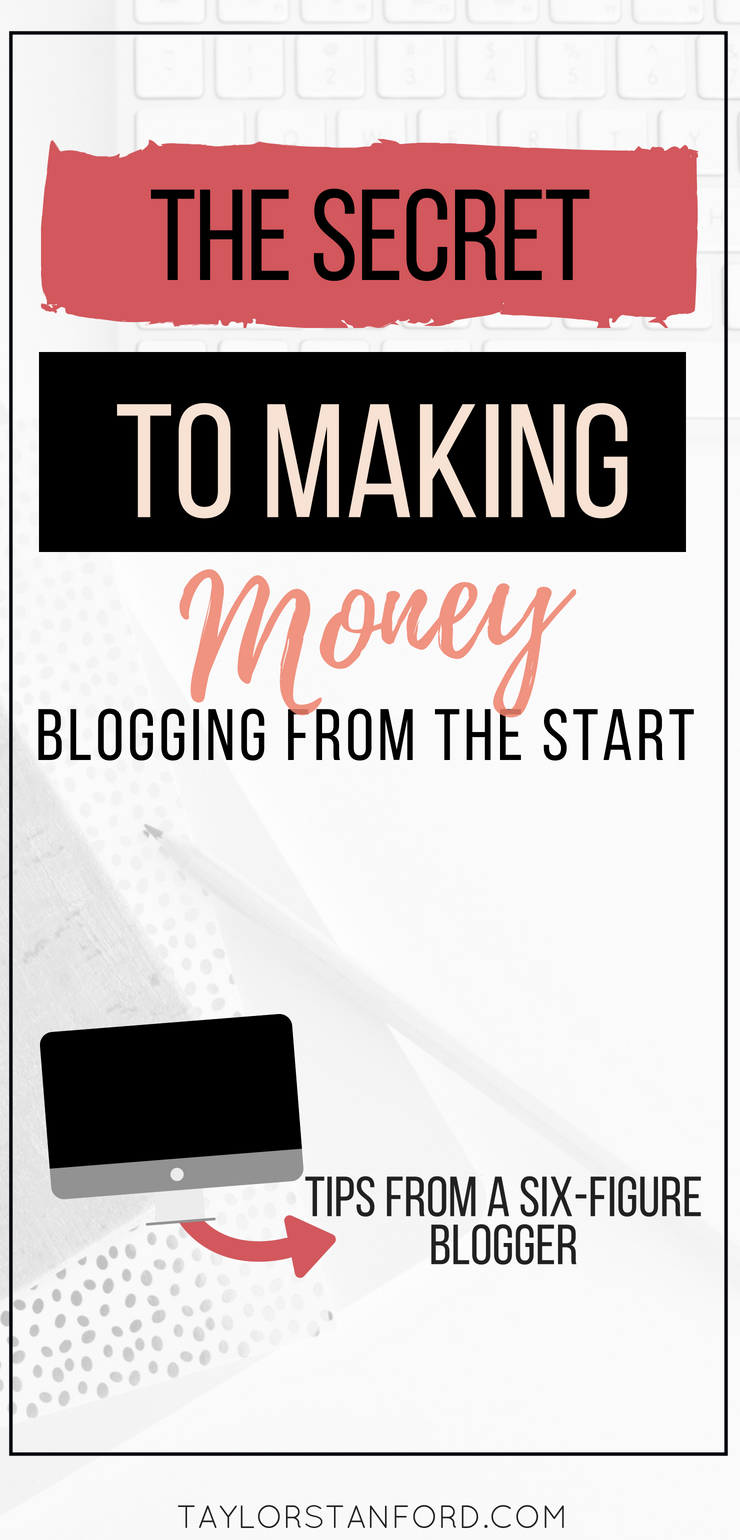 How to make money blogging as a beginner. How to make money blogging when you first start. Here is how I started making money my first month blogging. #bloggingtips #blogging #workfromhome