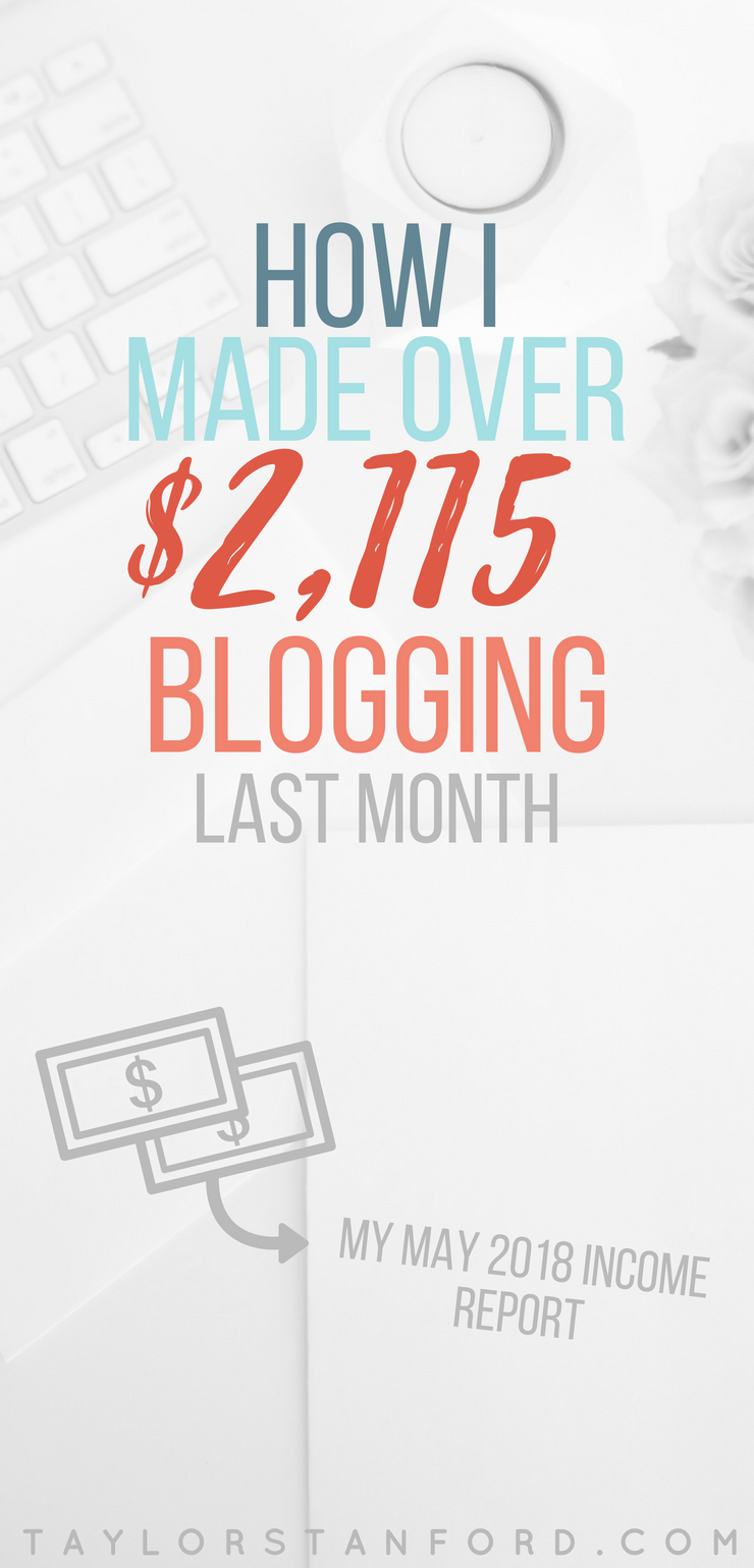 How I Made $2,052.32 in June 2018 Blogging. My June 2018 Income Report. Want to know how to make money blogging? #bloggingtips #incomereport