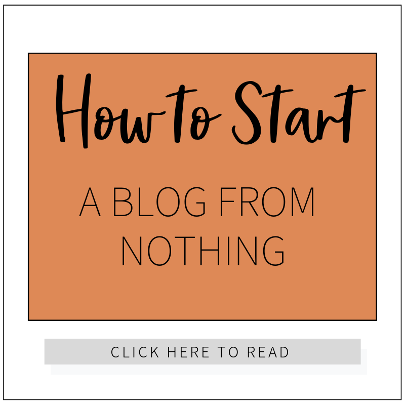 How to Start a Blog From Nothing