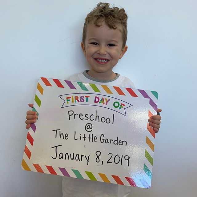 Welcome to our newest seedling! He is also the first student to join us in 2019! We are so glad he is part of our garden. . . . . . #preschooldays #newstudent #thelittlegardenpreschool #2019 #24andcounting #happynewyear #