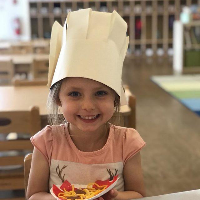 Best chefs on the Westside! They made some homemade pasta today. 👩🏼🍳 🍝 🍽 #preschool #preschoolactivities #preschooldays #preschoolchefs #thelittlegardenpreschool #pasta