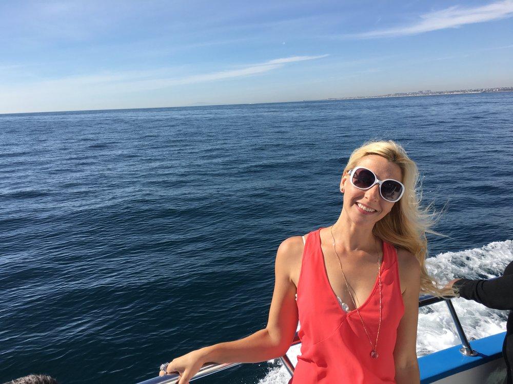 Newort Beach Harbor Whale Watch for my birthday. :)