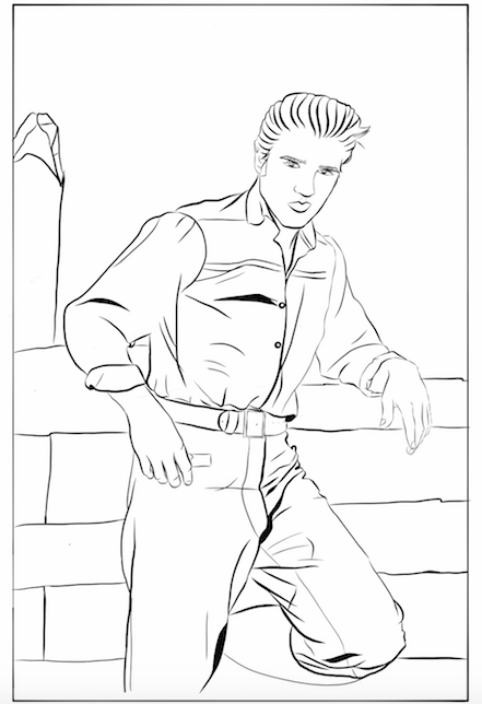 elvis presley coloring pages Elvis Presley