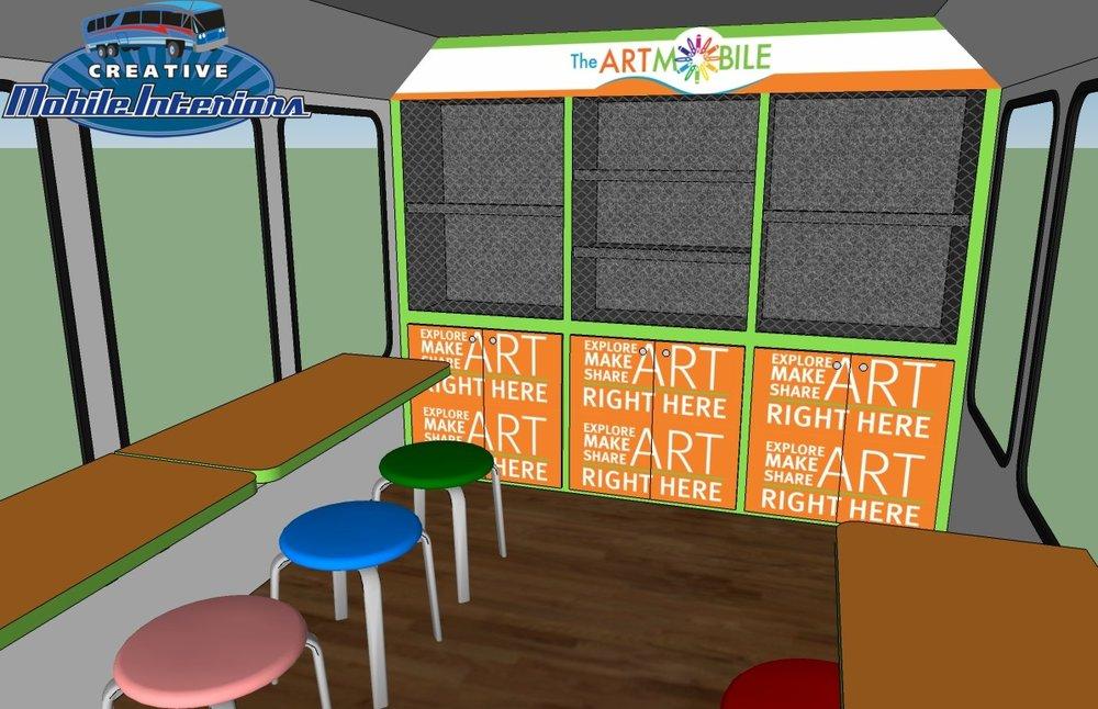 Artist's Rendering of The ArtMobile Interior