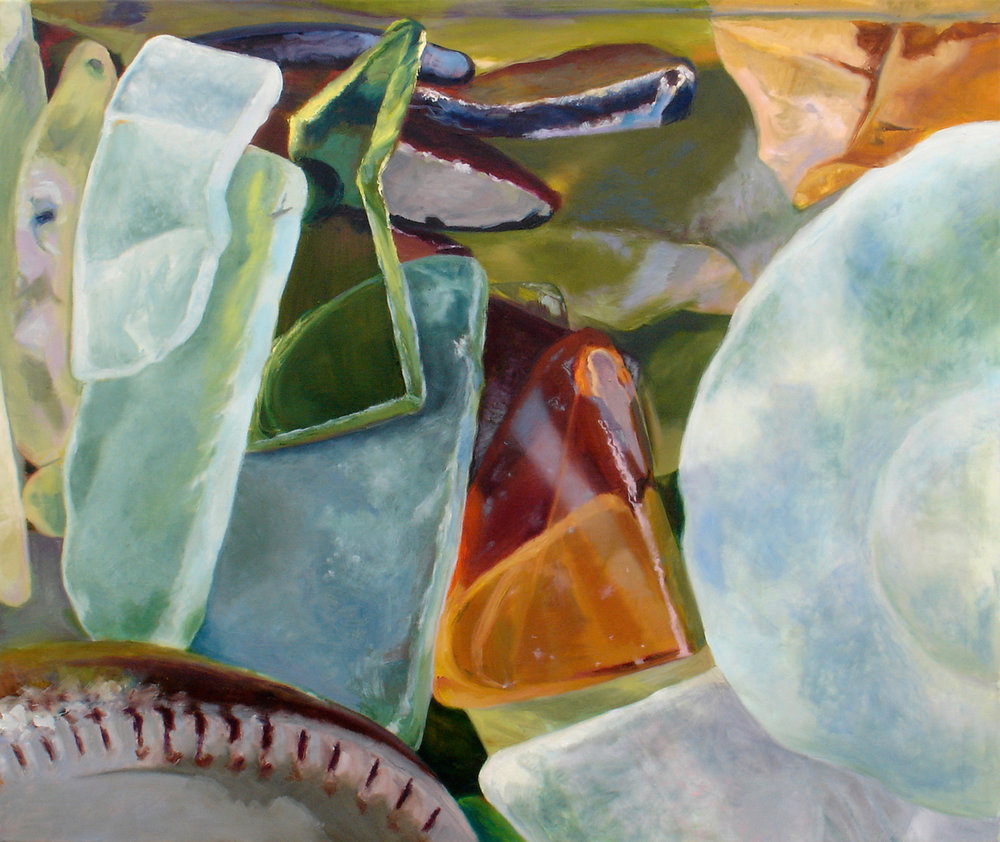 "Seaglass No. 2, 2010, 36x30"" Oil"
