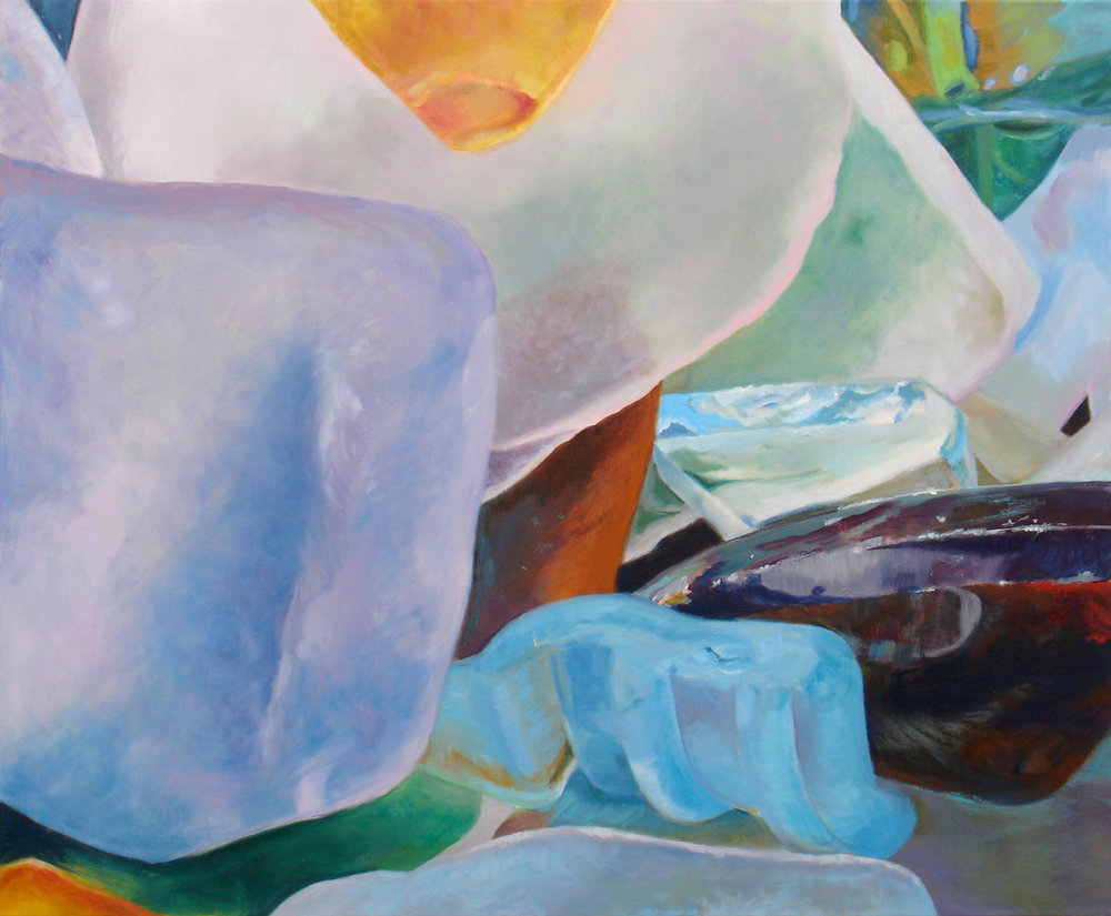 "Seaglass No. 1, 2010, 36x30"" Oil"