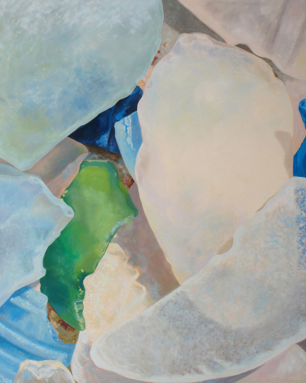 "Seaglass No. 5, 2010, 48x60"", Oil"