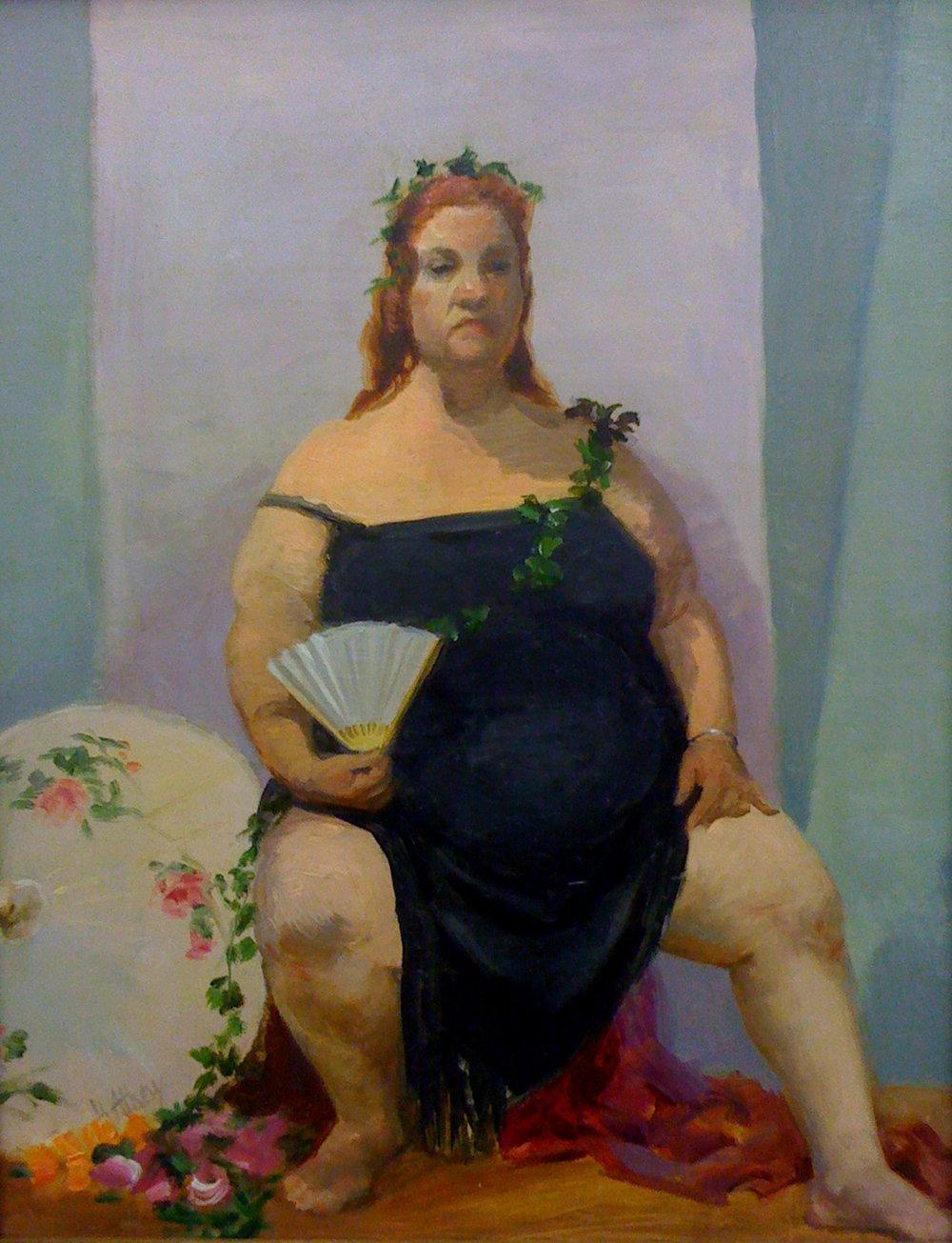 """""""Aviva's Rite of Spring"""", 2007, 12x9"""", Oil on Board"""