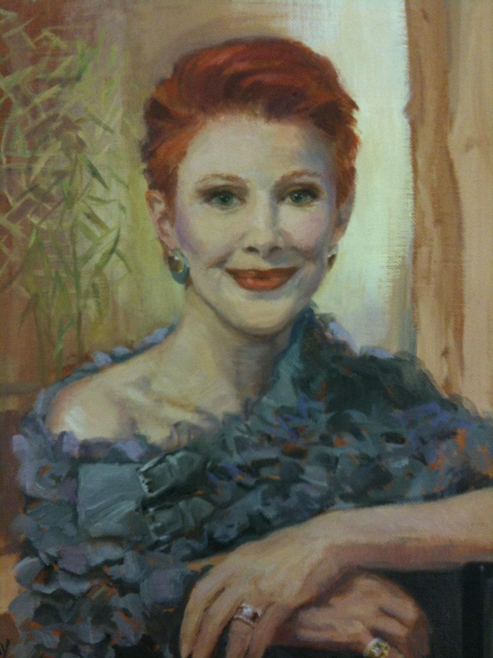"""""""Valerie Sobel"""", 2011, 14x11"""", Oil on Board"""
