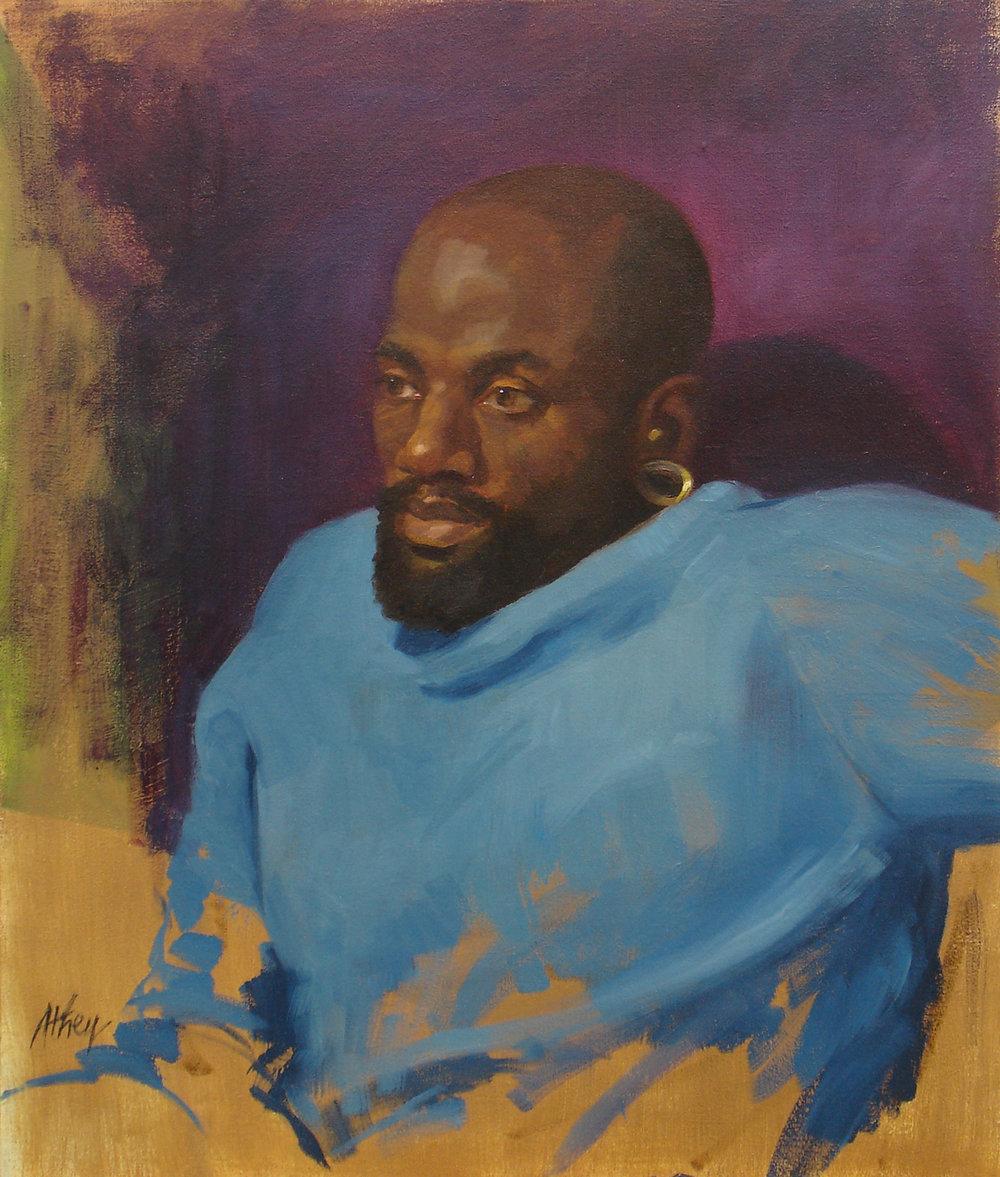 """""""Golden Earring"""", 2009, 24""""x20"""", Oil on Linen"""