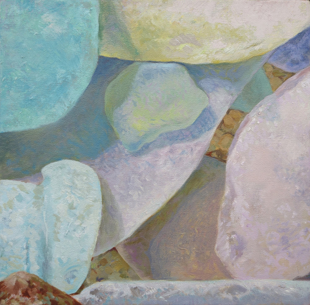 "Seaglass No. 12, 2014, 10x10"", Oil"