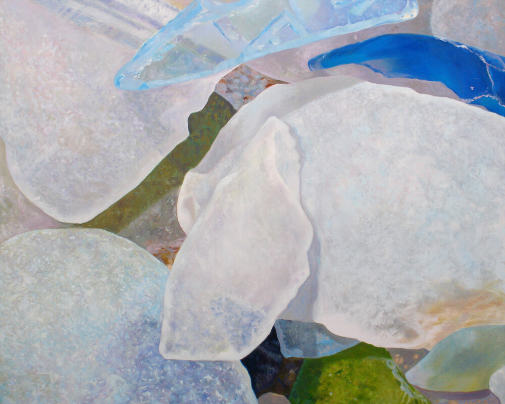 "Seaglass No. 6, 2010, 60x48"", Oil"