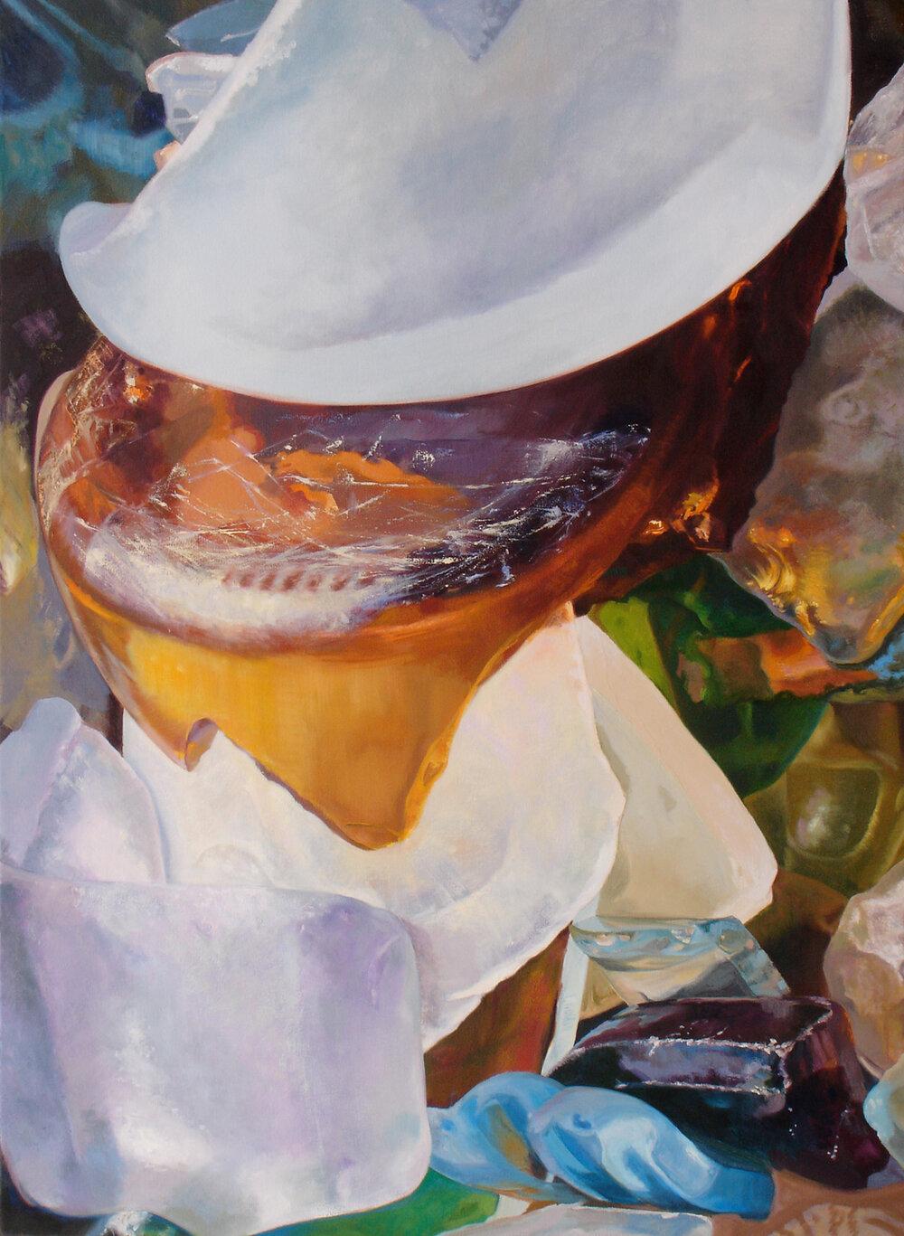 """Seaglass No. 4, 2010, 48x52"""" Oil"""
