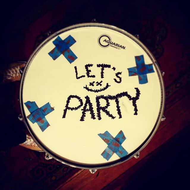 Now sporting a full 8 inches of party.  #innuendo #turnnfire #mapexdrums  #aquariandrumheads  #letsparty #response2