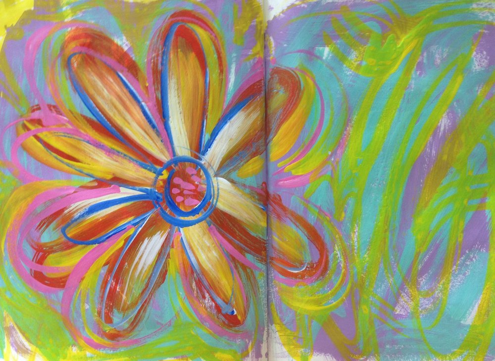 "Acrylic on Paper  16""X11"""