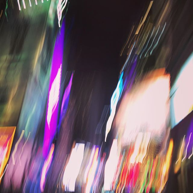 Times Square, falling camera. #nyc #timessquare #motion #blur #gravity