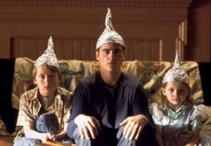 To commemorate our tenth week together, here is a picture of some tinfoil hats.
