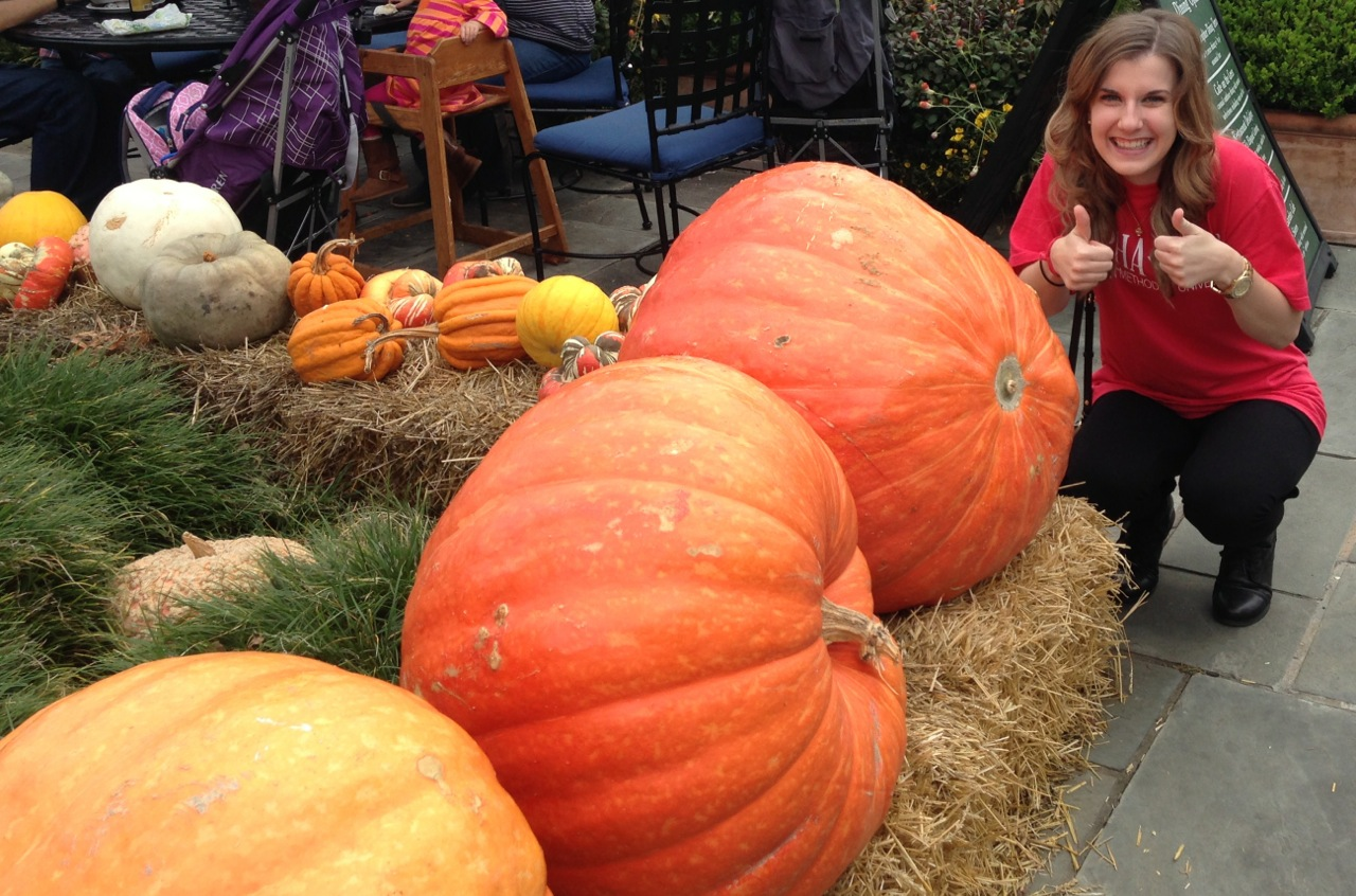 Sizeable pumpkins.