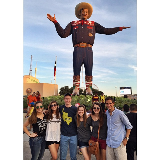Big Tex giving us his State Fair blessing.