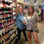 Katie and Rachael's victorious reaction to finding the cheapest cookie ingredient: baking soda.