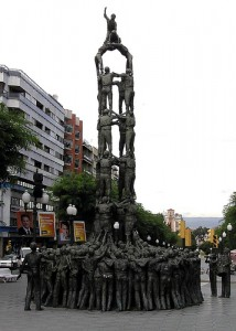 "Monument to ""Human Pyramids"" by Susan Renee"