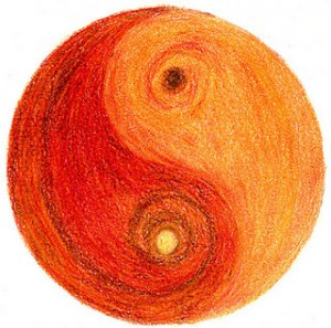 Yin yang cálido by Guadalupe Cervilla