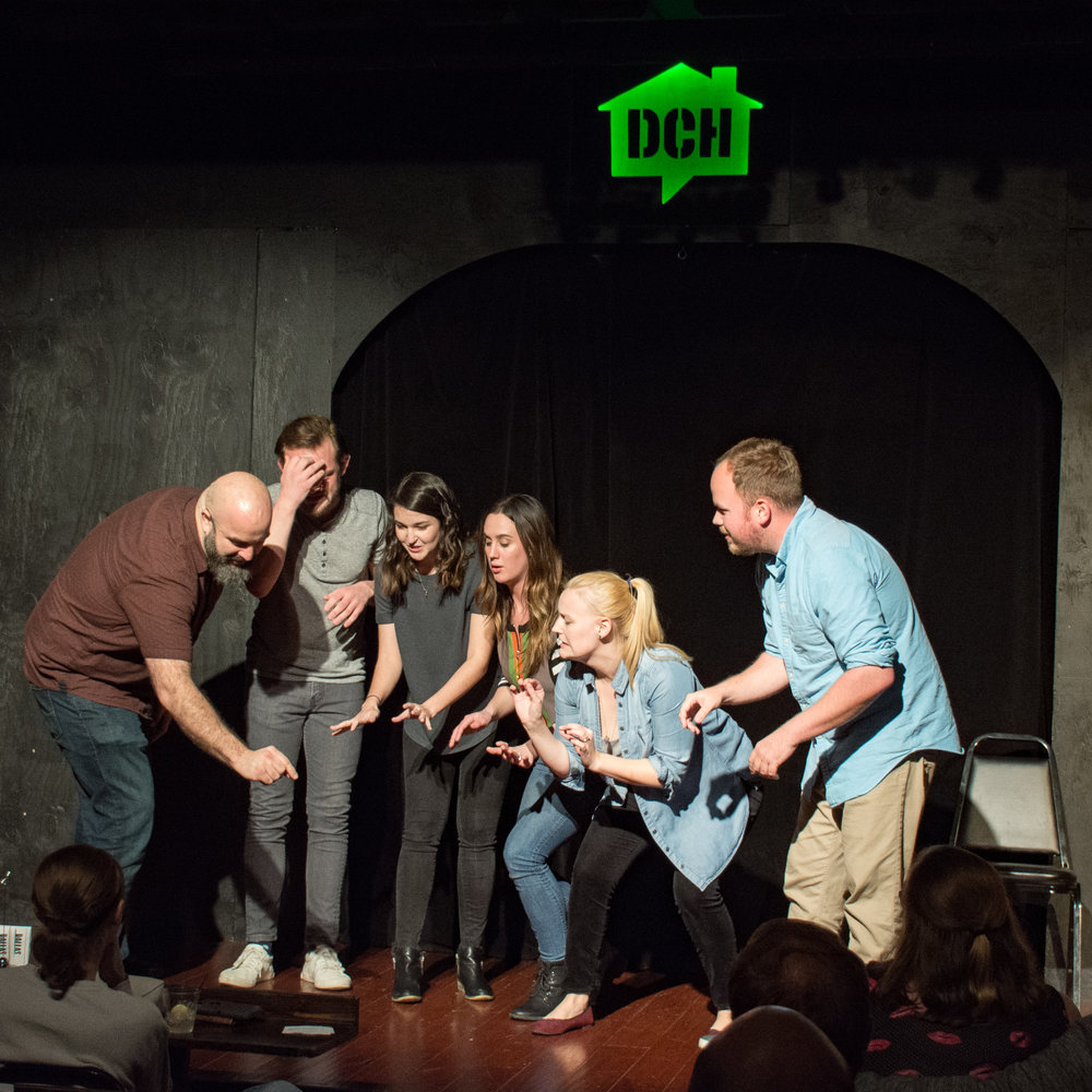 Modern day improv comedy.  Photo by Kaspars Skels