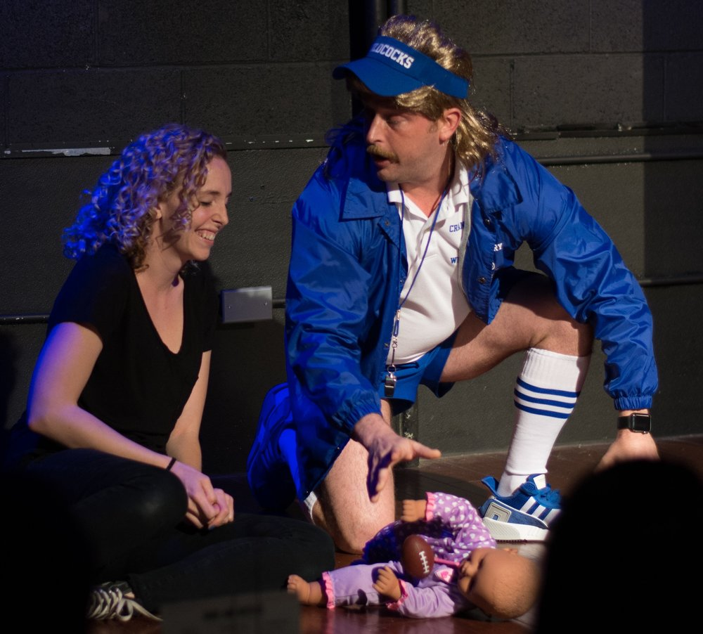 Coach Dale and his daughter Mary (Played by Emily Gee)
