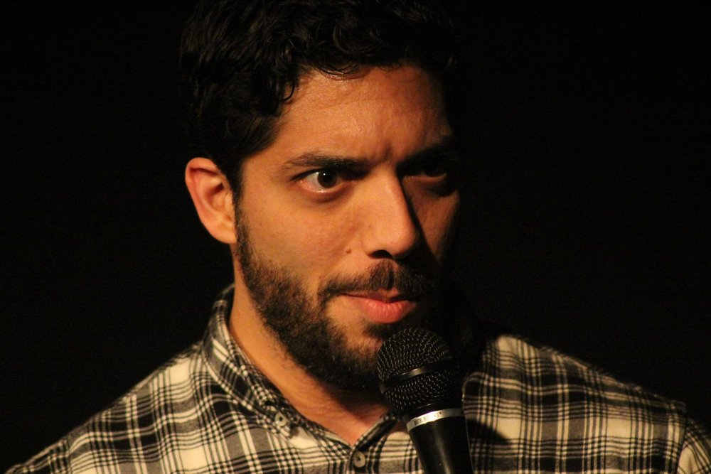 Shahyan Jahani on stage at the 2017 Dallas Comedy Festival