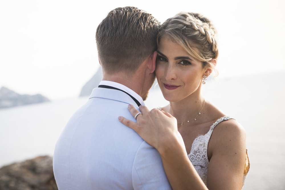 """""""You give your best for our wedding! The result is just amazing. I've got the best memories.You were so nice with us. It was really a pleasure meeting you.I highly recommend Jeremy for everyone who wants amazing photos ;-)Thanks again"""" - Celine & Jay, Es Vedrá, Ibiza."""