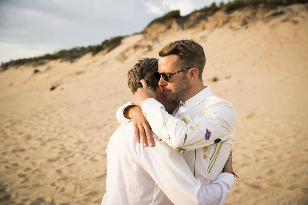 """""""Jeremy photographed my wedding in Portugal. The photos he took of my husband & I are simply breathtaking! We absolutely love them and are so grateful for his talents. Thank you so much! James & Nick xx - Nick & James, Hotel Areias Do Seixo, Portugal."""