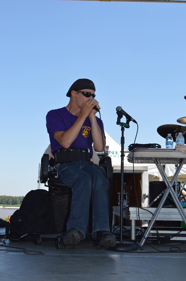 "Our Harmonica Player (""T-Roy"" Truxillo) started out under the tuteledge of Brian Bruce at a very young age and has been in church and school choirs since elementary school. He's played with Bluesmen Henry Gray and John Lisi."