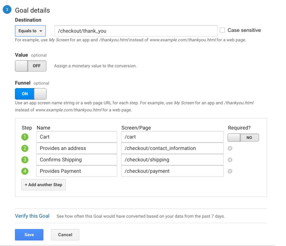 Conversion Path Google Analytics