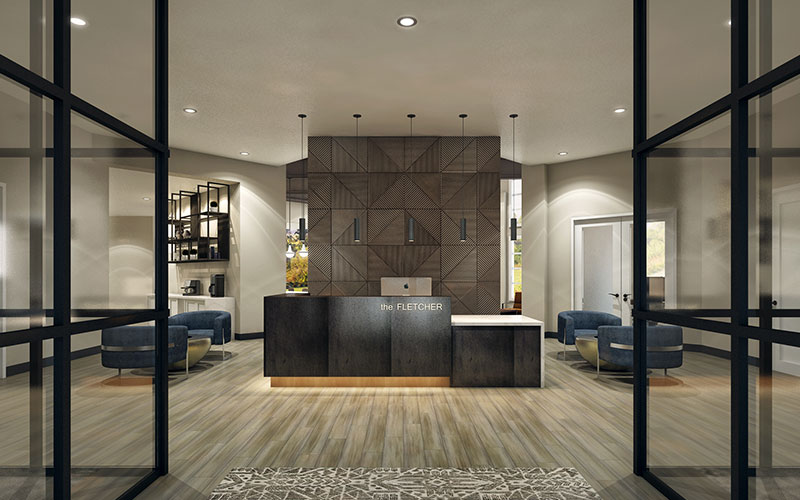 Lobby at The Fletcher Southlands, an Origin Investment Property