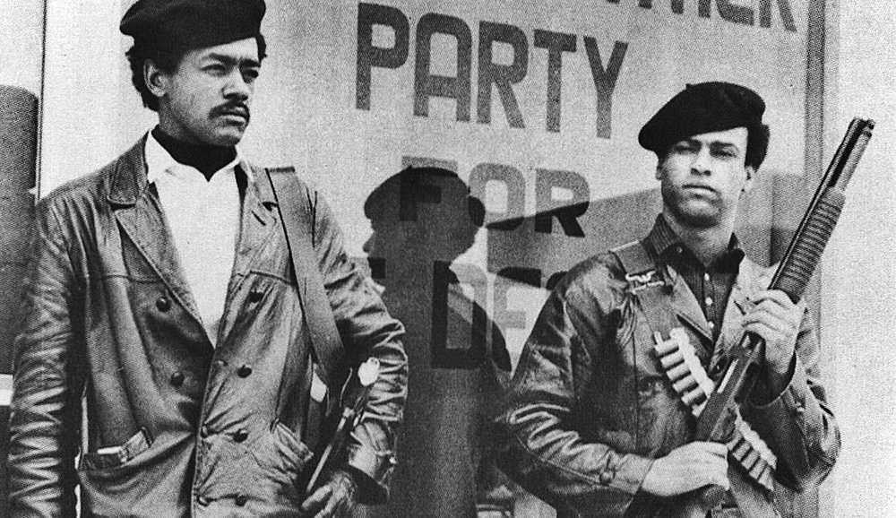Huey Newton stands vanguard for social Malcolmtents across his racially divided America