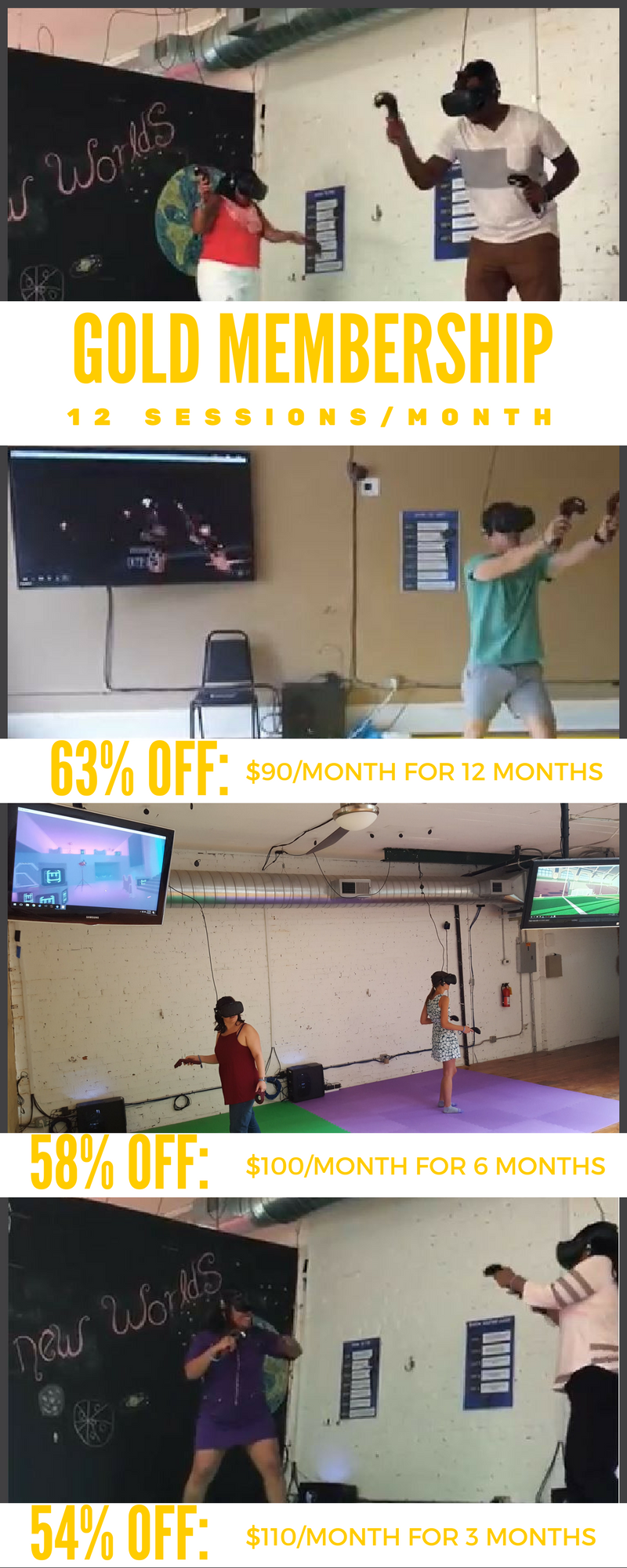 VR Arcade Gold Membership