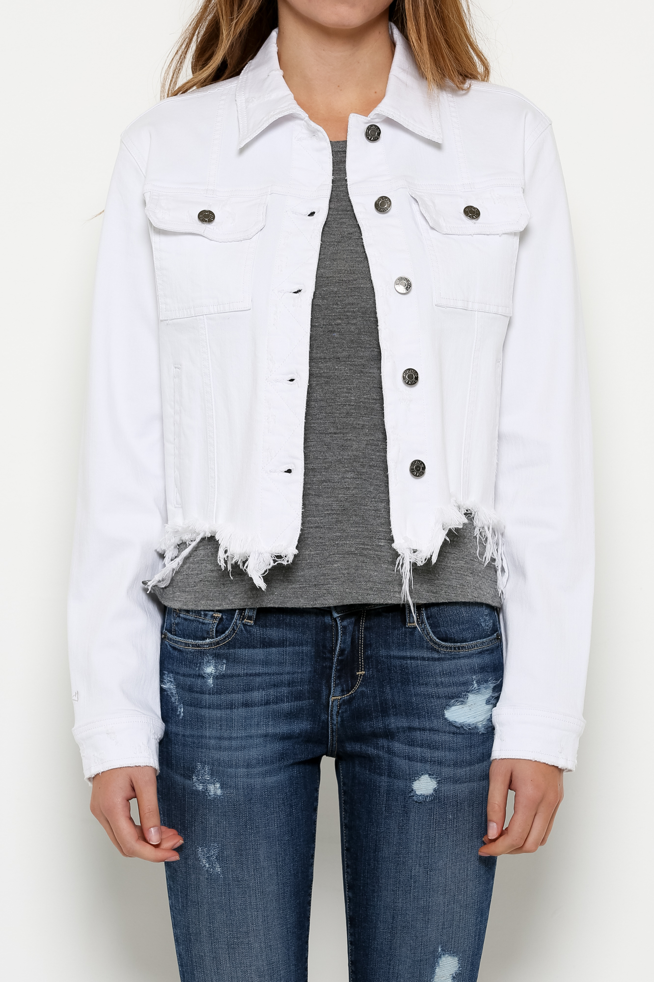 classic styles 100% quality sells White Denim Jacket — devereaux
