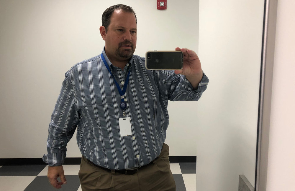 This is me, Scratch, at 46-years-old on October 1, 2018. I tipped the scales at 307 pounds today. I just bought these pants too, which are size 46 waist and 30 length.    My goal? Hmm. Say 47-years-old next year (let's all pray for that), 227 pounds, 36 (okay, I'll take a 38) waist. Let's make it happen Football Fan's Diet.