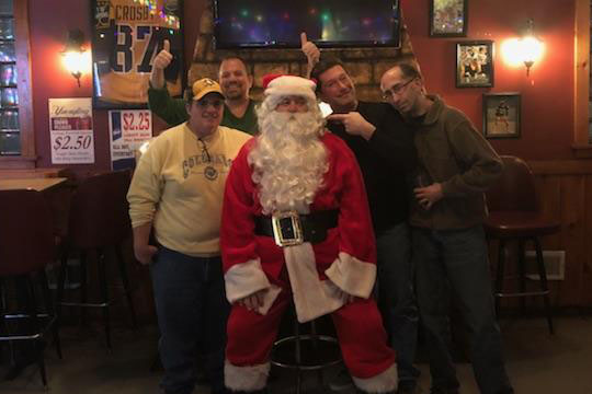 "Tired of the elves and all their bullshit, Santa took a break from his merrymaking and dropped in at the Hiland Bar. We suspect we are all getting beers in our stockings this year. Santa essentially backed up Prophet's predication with a, ""Ho Ho Ho."""