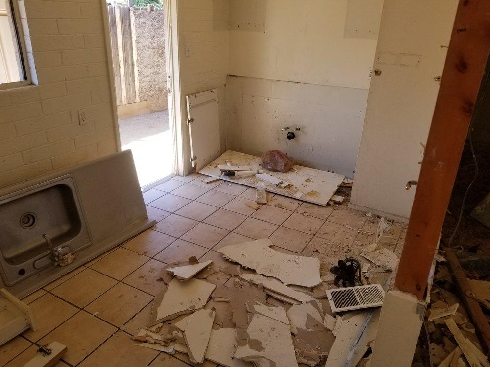 Kitchen demolition.