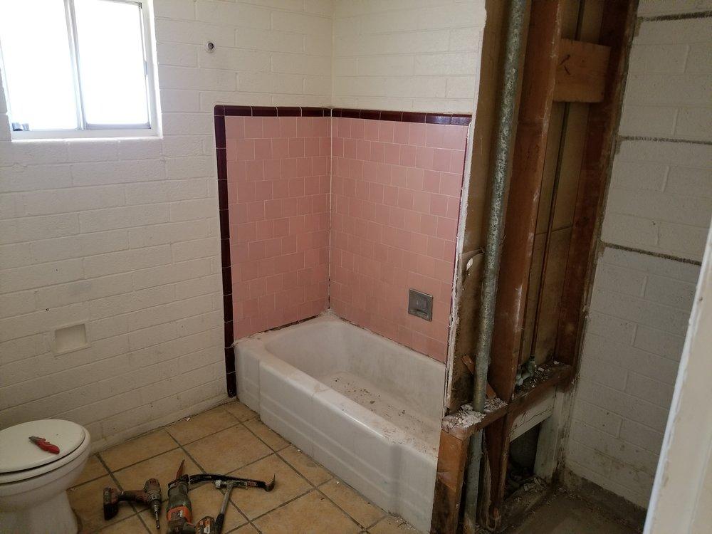 Bathroom demolition.