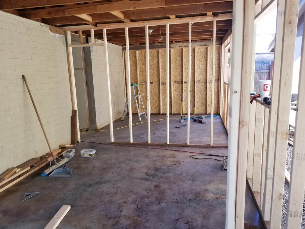 Framing the new bedrooms