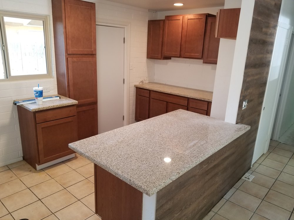 Counter tops installed
