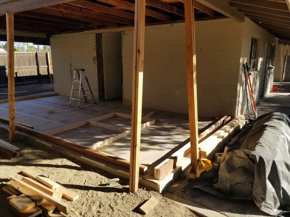 Framing starts for two new bedrooms